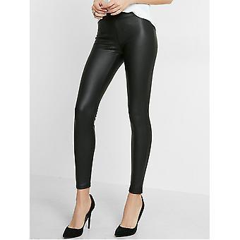Silky Leather Look Leggings