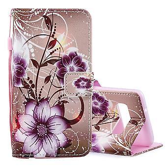 Per Samsung Galaxy S10 Plus Caso Lotus Modello Lotus PU Pelle Copertina