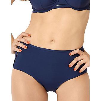 Miss Sans Complex 68QAF06 Dames's Mykonos Deep Blue Badwear Beachwear Highwaist Bikini Bottom