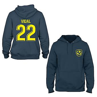 Arturo Vidal 22 Barcelona Style Player Kids Hoodie