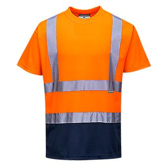 Portwest two tone safety workwear hi vis t-shirt s378
