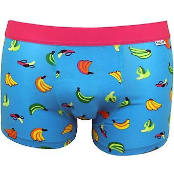 Happy Socks Banana Boxer Trunk, Sky Blue