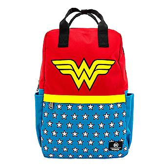 Wonder Woman Backpack Classic Logo new Official Loungefly DC Comics Blue