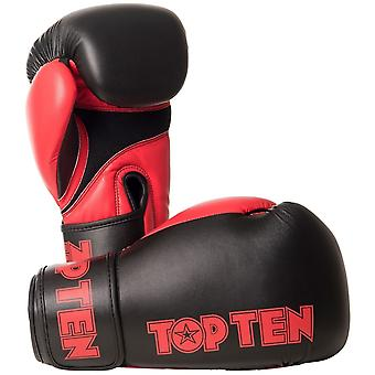 Top Ten XLP boxe gants noir/rouge