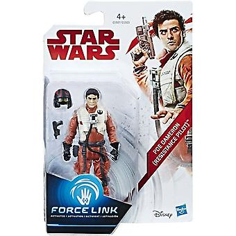 Hasbro Star Wars The Last Jedi Poe Dameron (Resistance Pilot) Force Link Figuur