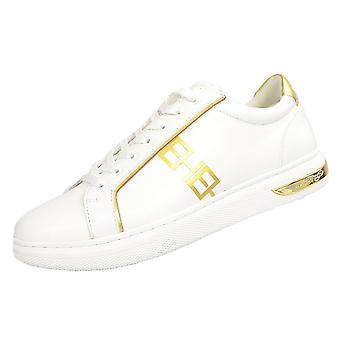 Ed Hardy Mono Low Top White/gold Trainers