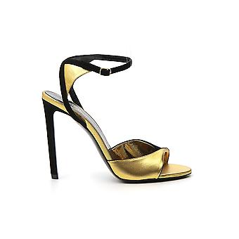 Céline 33249319838ng Women's Gold Leather Sandalen