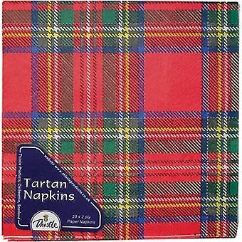 Serviettes en papier Royal Stewart Tartan - 3 plis - paquet de 20