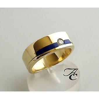 Golden Lapis Lazuli ring