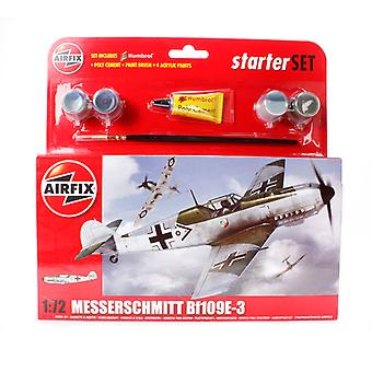 Airfix A55106 Messerschmitt Bf109E-3 1:72 Escala Starter Set Kit