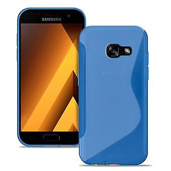 S-Line Slim Cover pour Samsung Galaxy A3 (2017) Ultra Thin Patterned Silicone Blue
