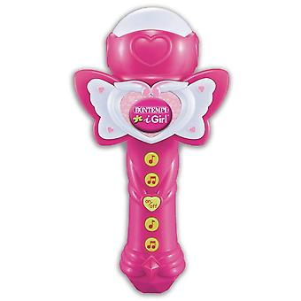 Bontempi Sing-a-long Microphone with Light Effects Pink