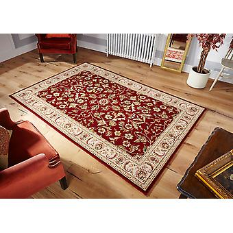 Royal Classic  636R Red, with beige yellow and ivory tones Rectangle Rugs Traditional Rugs