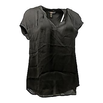 G.I.L.I. got it love it Women's Top Extended Shoulder Blouse Black A288469