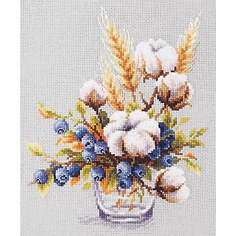 Magic Needle Cross Stitch Kit - Blooming Cotton and Blueberry