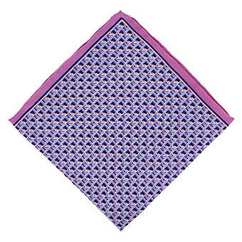 Michelsons of London Square Geo Handkerchief - Pink