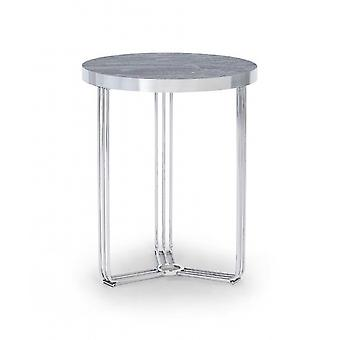 Gillmore Deco - Small Circular Side Table With Various Wooden Tops And Frame Colour Options