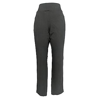Denim & Co. Women's Pants Active Pull On Knit Ankle Black A303558