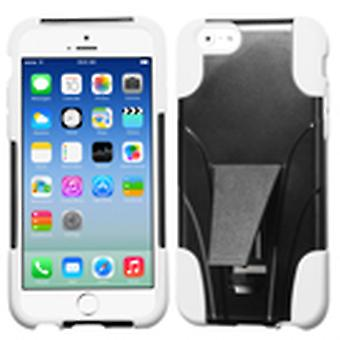 Asmyna Inverse Advanced Armor Stand Case for Apple iPhone 6/6S - White/Black