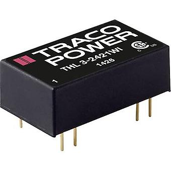 TracoPower THL 3-2410WI DC / DC محول (الطباعة) 24 V DC 3.3 V DC 600 mA 3 W No. من النواتج: 1 x