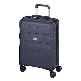 d&n Travel Line 2100 Handgepäck Trolley S, 4 Rollen, 55 cm, 37  L, Blau