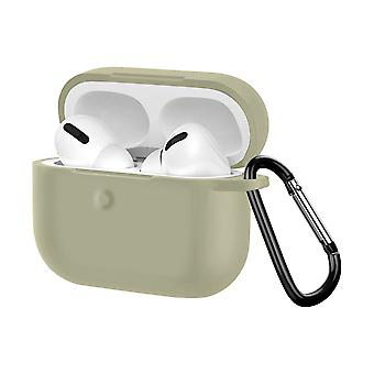 Soft Case Apple AirPods pro Anti-fingerprint Anti-Scratch with Carabiner- Grey