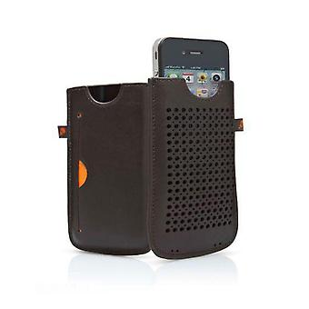 Cygnett Milan Leather Pouch Case for iPhone 4/4S (Brown)