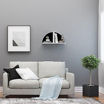 Maui Mened Farbe schwarz, weiß in Chip, bemalte Metallschicht 60x18x31 cm