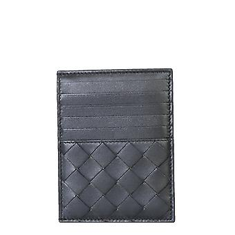 Bottega Veneta 635043vcpp38803 Women's Black Leather Wallet