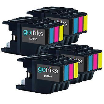 4 Set di cartucce d'inchiostro per sostituire Brother LC1240 & LC1220 Compatibile / non-OEM per le stampanti Brother DCP & MFC (16 inchiostri)