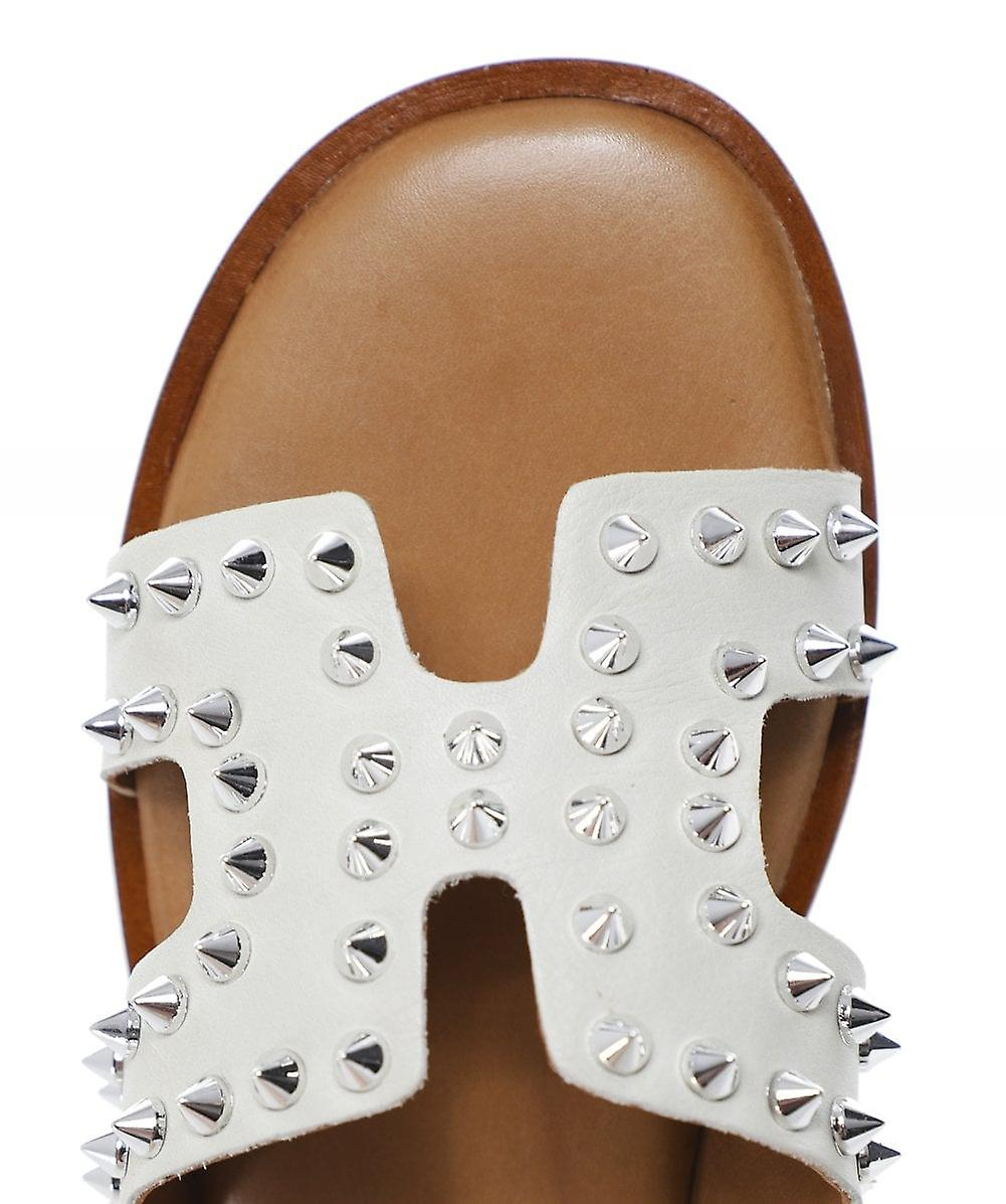 Inuovo Leather Studded Sliders