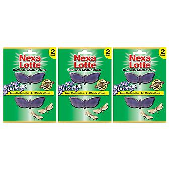 Sparset: 3 x NEXA LOTTE® Scented Moth Protection Fresh fragrance, 2 pieces