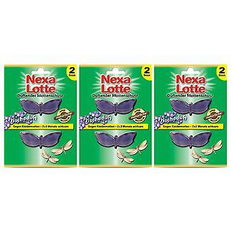 Sparset: 3 x NEXA LOTTE® Duftende Moth Protection Frisk duft, 2 stk.