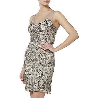 Grey silver filigree dress