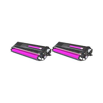 RudyTwos 2x Replacement for Brother TN-321M Toner Unit Magenta Compatible with HL-L8250CDN, HL-L8350CDW, HL-L8350CDWT, DCP-L8400CDN, DCP-L8450CDW, MFC-L8650CDW, MFC-L8850CDW