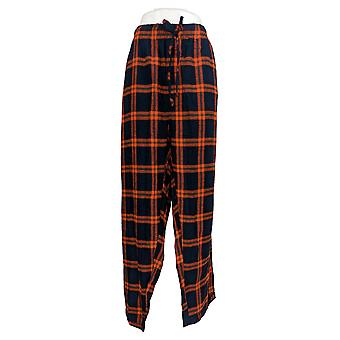 Concept Sports Men's Lounge Pants Home Stretch Plaid Bears Logo Orange