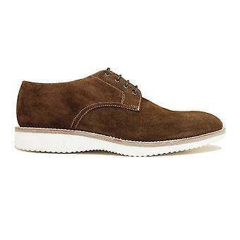 Loake Adder Polo Suede Leather Mens Derby Lace Up Shoes