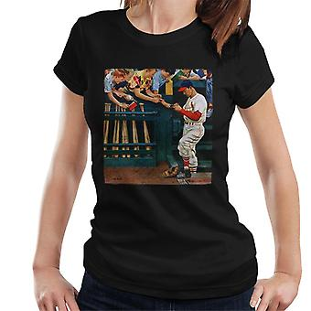 The Saturday Evening Post 1951 Baseball Cover Art Women's T-Shirt