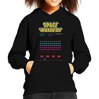 Space Invaders 1978 Arcade Game Play Kid's Hooded Sweatshirt
