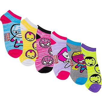 Marvel Avengers Heroes Assorted Women's 6-Pack Shorties Socks