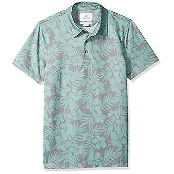 28 Palms Men's Standard-Fit Performance Cotton Tropical Print Pique Golf Polo...