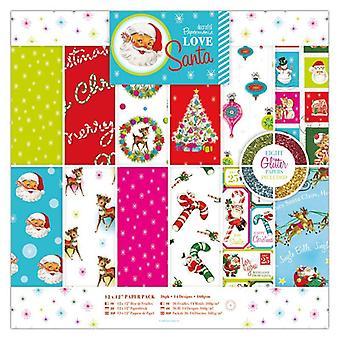 Papermania 12x12 Inch Paper Pack Love Santa (36pk) (PMA 160952)
