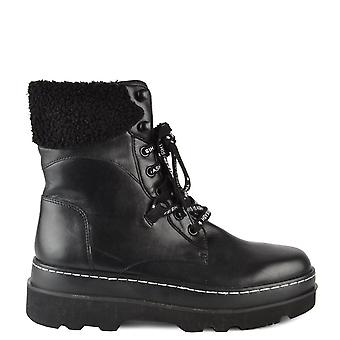 Ash Footwear Siberia Shearling Black Leather Boots