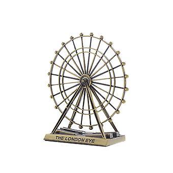 Vintage Alloy Ferris Wheel Model Ornament Copper