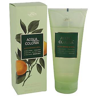 4711 Acqua Colonia Blood Orange & Basil Shower Gel By Maurer & Wirtz 6.8 oz Shower Gel