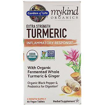Giardino della Vita, MyKind Organics, Extra Strength Curcuma, Risposta Infiammatoria,