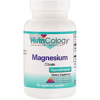 Nutricology, Magnesium Citrate, 90 Vegetarian Capsules