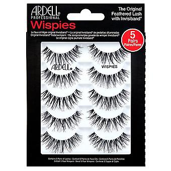 Ardell Wispies Lightweight Lashes Multipack - Wispies Black Eyelashes - 5 Pairs