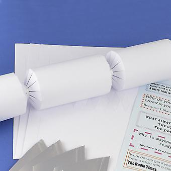 Single Basic White Make & Fill Your Own DIY Recyclable Christmas Cracker Kit