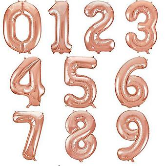 Aluminiumfolie, nummerballonnen voor verjaardag, huwelijk, verlovingsfeest